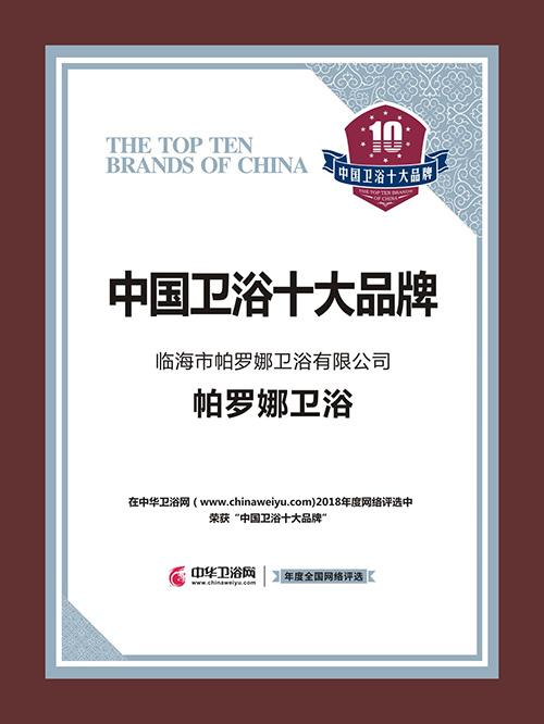 中国卫浴十大品牌